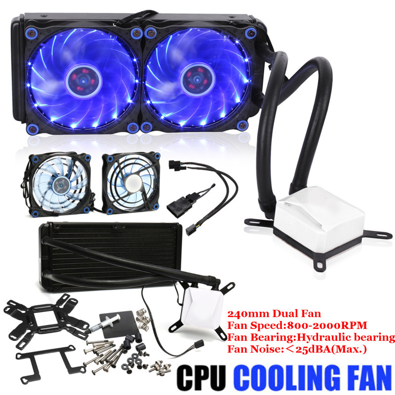 Cooling FROSTFLOW+240 mm Extreme Performance All In One Liquid Computer CPU Cooler Fan Set Computer Component Accessories Kit