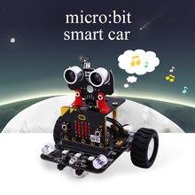 Графический программируемый робот-автомобиль с Bluetooth ИК и отслеживающим модулем, паровой робот-игрушка для микро: бит BBC