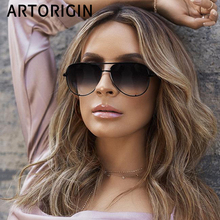 7302271ff5 new fashion flat top aviation sunglass pink sunglasses women brand designer  oculos aviador mirror shades sun