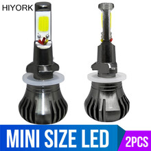 Hiyork 2Pcs Led H3 H11 H8 H9 H27 880 881 Car Fog Light Bulb Dual Color White Yellow Blue / Ice 12V Accessories Lamp New