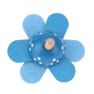 Image 5 - ילדים חינוכיים צעצועי עץ פרח לסובב תינוק עץ צעצועים לילדים סביבון לפתח מודיעין צעצועים חושי מתנה