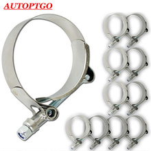 цена на 10Pc Stainless Steel T-Bolt T Bolt Clamp Coupler For 2 2.25 2.5 2.75 3 3.2 3.5 Silicone Hose Pipe Turbo Intake Clamps Kit