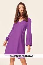 Trendyol New Purple V-Neck Dress TCLAW19BB0326