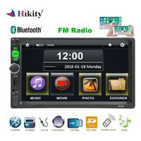 Hikity 2 din Car Radio GPS Navigation Autoradio Bluetooth AUX FM USB Multimedia Player Support Camera Stereo Audio Radio 7010G
