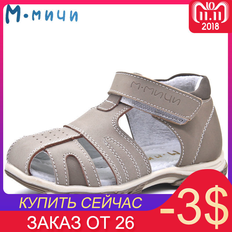 MMnun 2018 Kids Sandals Orthopedic Kid Shoes Children Boys Sandals Closed Toe Flat Shoes Aged 4-8 Size 26-31 ML134