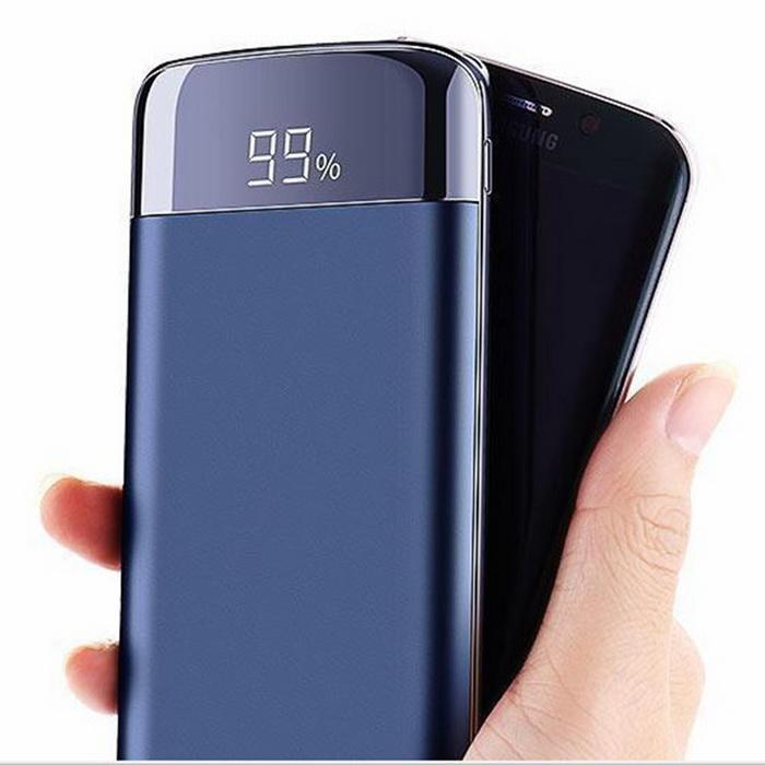 10000mAh Dual USB Ports Mobile Phones LCD Screen Power Bank Over Charge Protected For Xiaomi MI iPhone Samsung