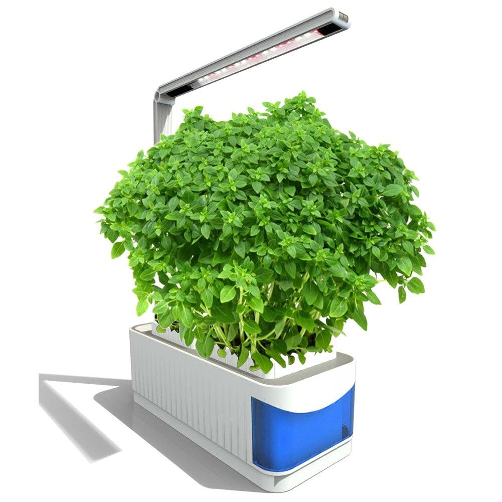Lamp Led Herb Adjustable Indoor Garden Hydroponics Kit Plants Grow Full