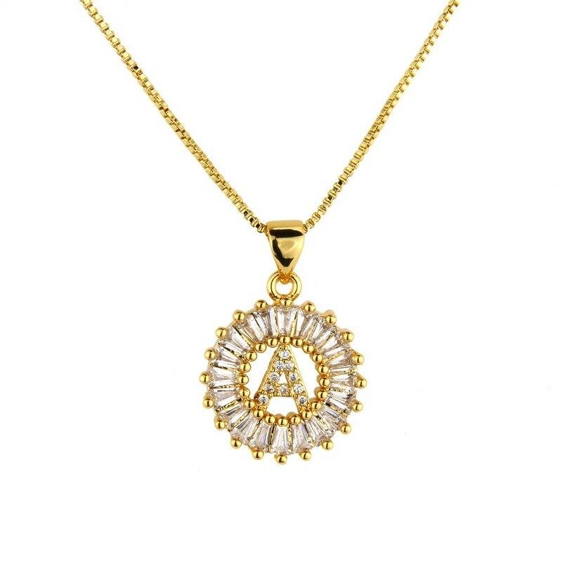 2019 vente Kolye Moana collier ras du cou Collares a-z lettre initiale pendentif charme cubique zircone collier pour femme couleur Capital chaîne