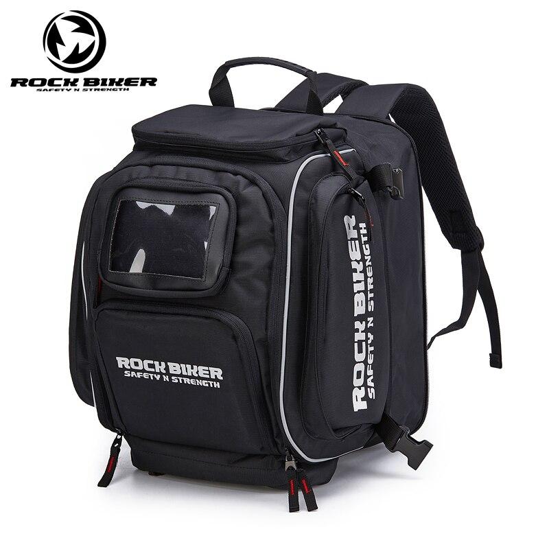 Sac de casque de couleur noire imperméable de motard de roche sacs de bagage de moto pour le sac de réservoir de carburant de motocross de BMW HONDA YAMAHA