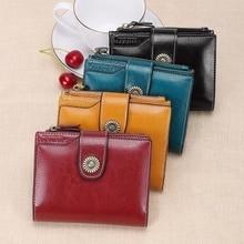 Womens Wallet Short Paragraph Korean Fashion Buckle Clutch Bag Girl Change Multi-Function Card Package