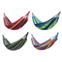 4Colors Portable Hammock Outdoor Hammock Garden Sports Home Travel Camping Swing Canvas Stripe Hang Bed Hammock With Bag