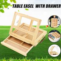 Adjustable Wooden Table Box Easel for Painting Sketching With Drawer Box Desktop Painting Supplies Suitcase