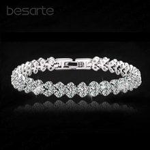 Женские браслеты из хрусталя 18 см женский браслет кольцевый
