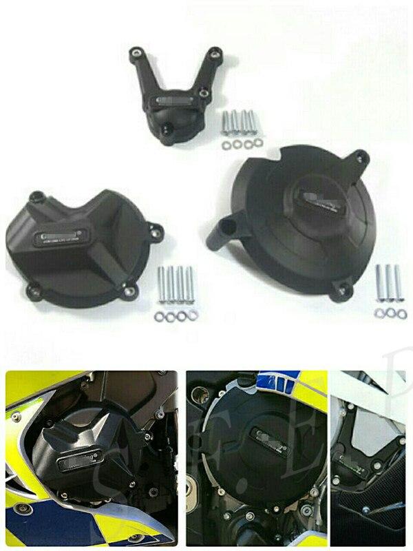 Housse de protection pour moteur moto GB Racing pour BMW S1000RR, S1000R 2017-2018 & S1000XR 2015 noir