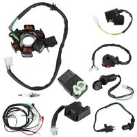 Electric Wiring Harness Kit Relay Rectifier Magneto Stator for GY6 125cc 150cc auto accessorie Adapters Sockets