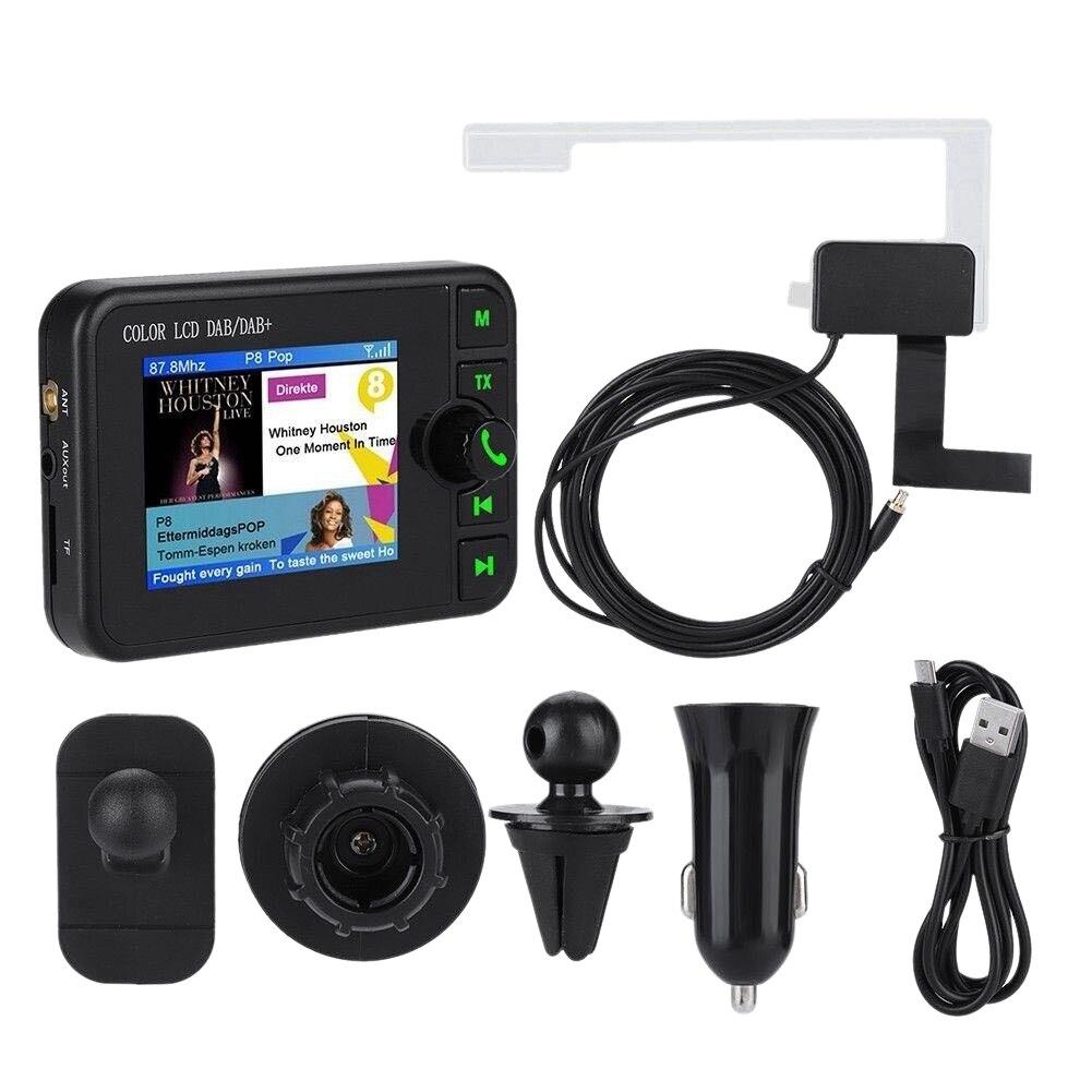 Ecran Lcd voiture Dab Radio récepteur adaptateur Bluetooth transmetteur Usb chargeur 84x58x15mm