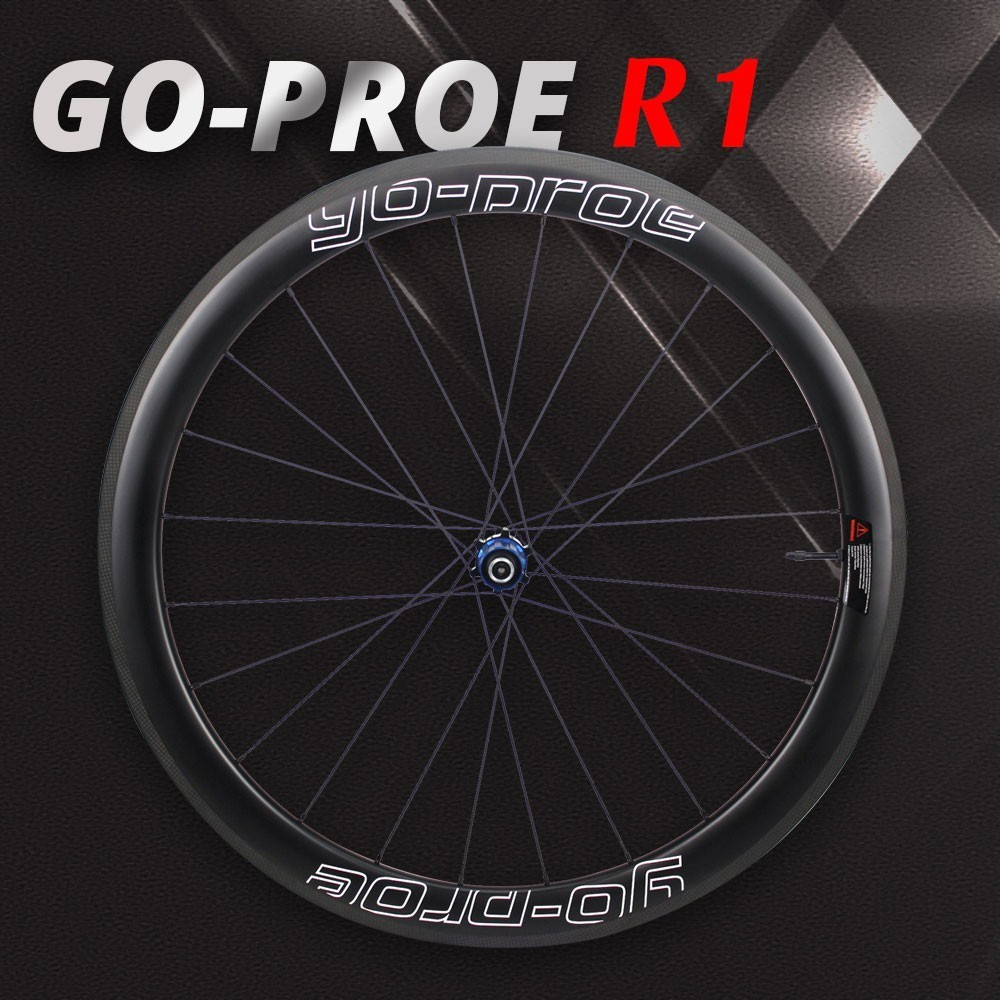 GO-PORE Carbon Road Bike Wheel 700c Rim Tubular Clincher Tubeless With Light Weight Go-proe RA01 Hub Only 265g