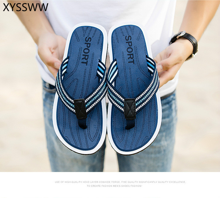 Breathable Slippers Sandals Flop-Shoes Flip Outdoor Beach Summer Home Male Fashion Men