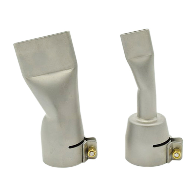 2Pcs  Alloy Welding Nozzles For Leister / Bak Hot Air Heat ,20Mm And 40Mm Flat Weld Nozzle