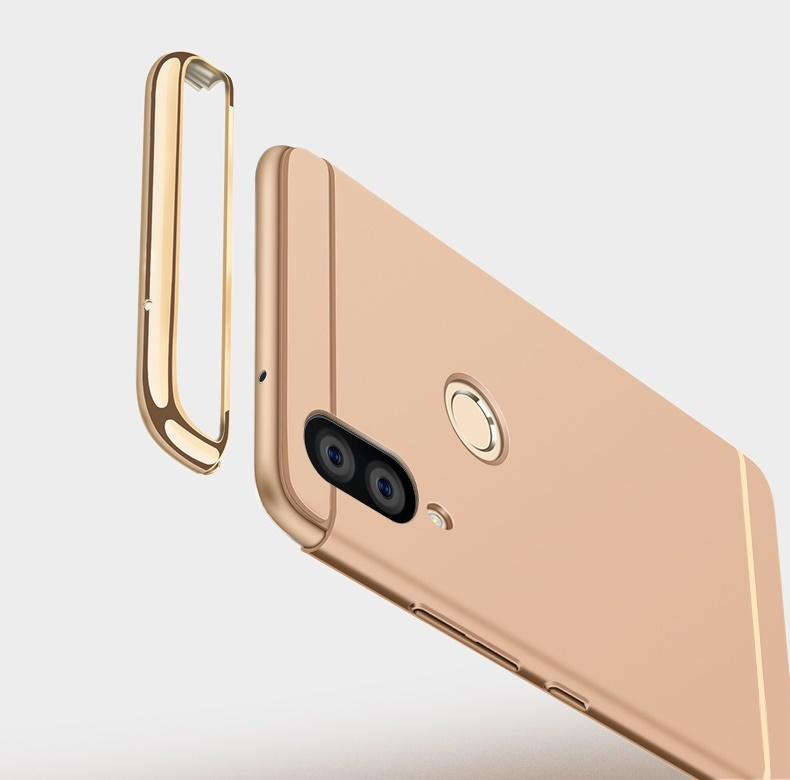 Case For Huawei Nova 3 Cover Nova 3i Luxury Royal Gold Metal Plating TPU Hard Removable 3 in 1 Case for Huawei Nova 3 in Fitted Cases from Cellphones Telecommunications