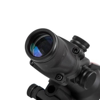 4X32 Hunting Riflescope Real Fiber Optics Grenn Red Dot Illuminated Etched Reticle Tactical Optical Sight 2