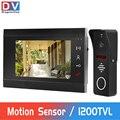 DragonsView проводной видео телефон двери для дома Интерком 1200 TVL дверной Звонок камера с детектором движения видео запись 32G карта памяти