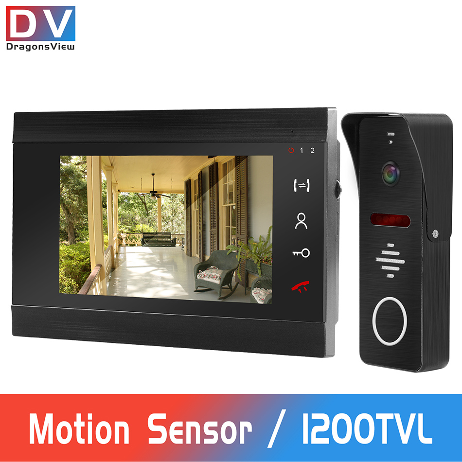 DragonsView Wired Video Door Phone For Home Intercom 1200 TVL Doorbell Camera With Motion Detection Video Record 32G Memory Card