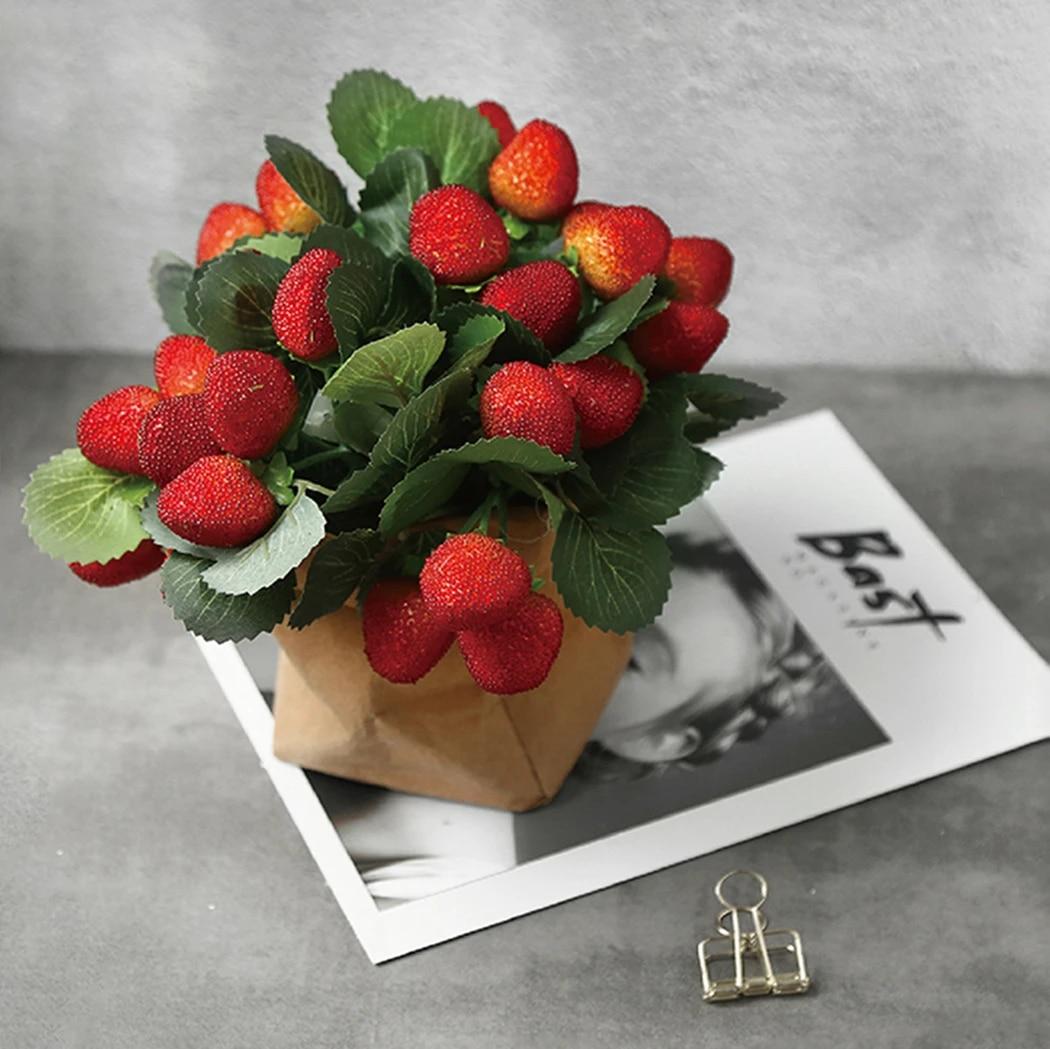 Super Bouquet de fruits artificiels en Simulation | 4 grappes, Bouquet NP-57