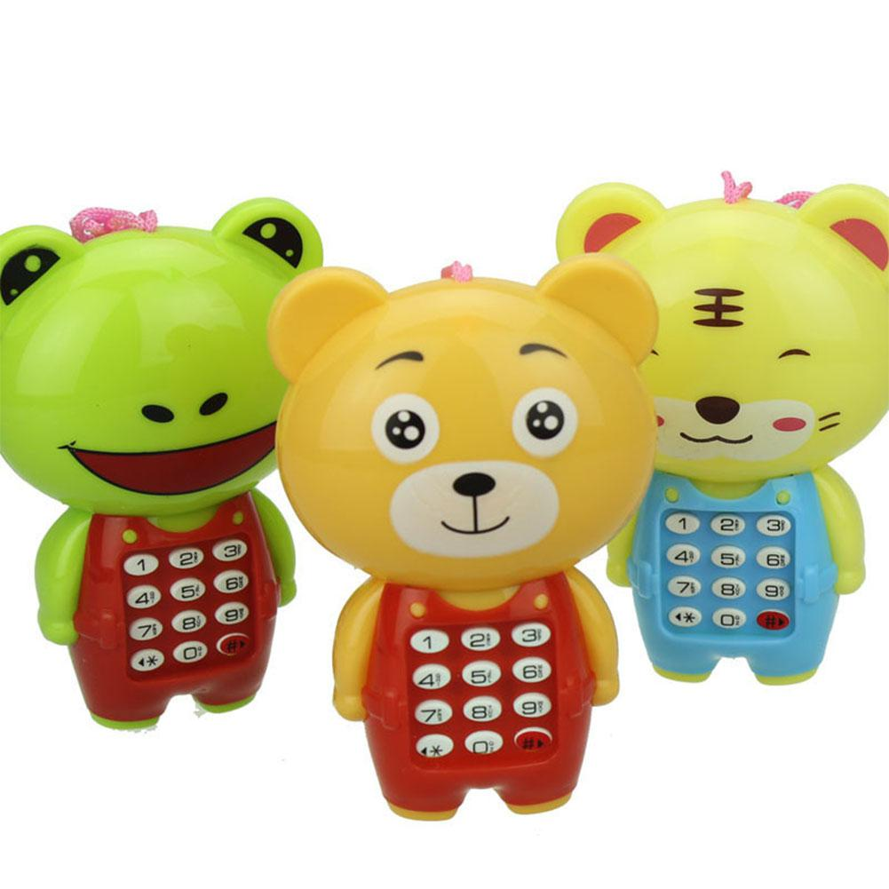 RCtown Baby Kids Cartoon Animal Musical Mobile Phone Toy Cell Phone Simulator Toy Gift For Children