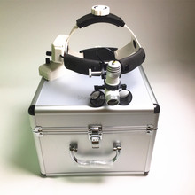 3W LED Medical Headlight Surgical Headlamp+3.5X Loupes Binocular Magnifier Dental Loupe Aluminum Box