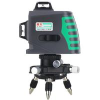 3D 12 Line Level Green Light High Precision Horizontal Laser Automatic Leveling Electronic Wall Meter 532nm Wavength