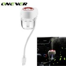 Onever портативный 85 мл USB автомобильный диффузор туман увлажнитель диффузор Ультразвуковой USB автомобильный освежитель воздуха домашний Авто Мини увлажнитель для автомобилей