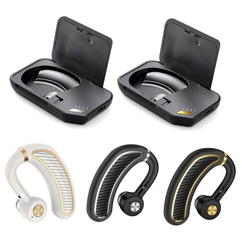 Business Bluetooth Headset Headset Bluetooth Headphone Wireless Earhook Earphones HD Stereo Noise Canceling