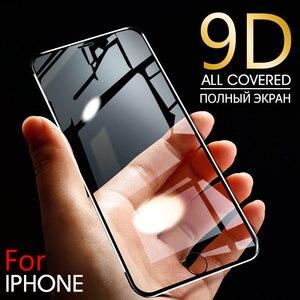 Image 1 - 9D Aluminium Legierung Display schutz Auf Die Für iPhone 6 7 8 Plus X Voll Gehärtetem Glas Für iPhone 11 pro 8 SE 5s Schutz Glas