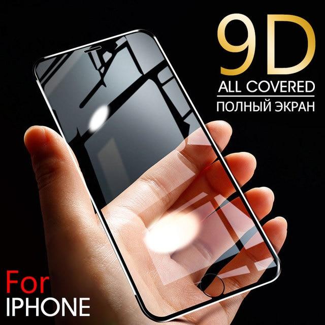 Ochraniacz ekranu ze stopu aluminium 9D na iPhone 6 7 8 Plus X pełne szkło hartowane dla iPhone 11 pro 8 SE 5S szkło ochronne