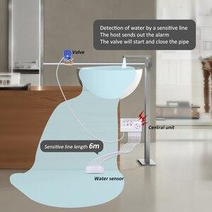 Image 5 - WLD 806 Hidaka كاشف تسرب الماء نظام إنذار للأمن المنزلي مع 2 قطعة DN15 تسرب المياه الفيضانات تغيير تجاوز كشف