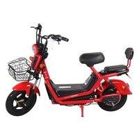 Новый красный электрический автомобиль взрослый двухколесный электрический велосипед для мужчин и женщин маленький аккумулятор автомоби
