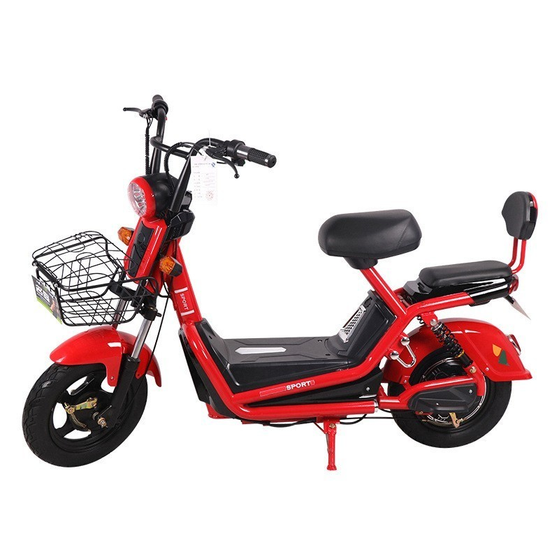 New red electric car adult two-wheeled bicycles for men and women small battery mini Markdown sale