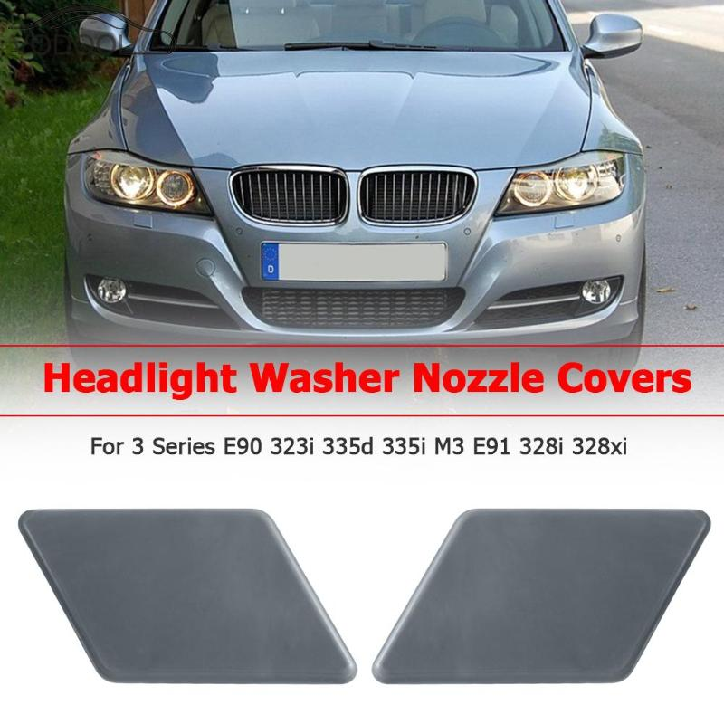 Car Front Headlight Washer Nozzle Cover Cap Covers For BMW 3 Series E90 323i 335d 335i M3 E91 328i 328xi Auto Replacement Parts