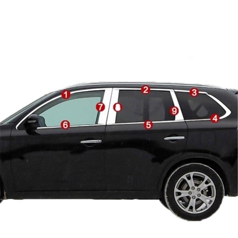 Fenêtre climatiseur extérieur automobile décoration lumineux paillettes car styling couvre moulures 14 POUR Mitsubishi Outlander