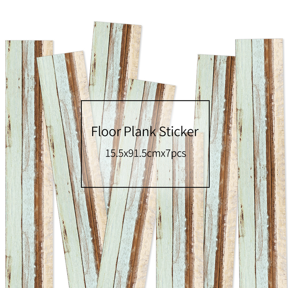 HXM 7pcs Floor stickers DIY Self adhesive Wall Tile Stickers Wood Grain Frosted Film Wallpaper Kitchen Living Room Decor #9