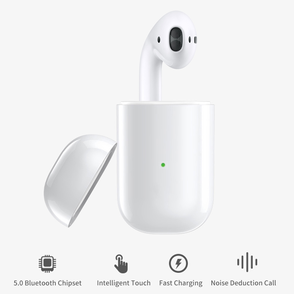 WiWU Wireless Earphone for iOS/Android <font><b>i</b></font> <font><b>10</b></font> <font><b>TWS</b></font> Waterproof Stereo Earbud with Charging Case Bluetooth Earphone Single Earphones image