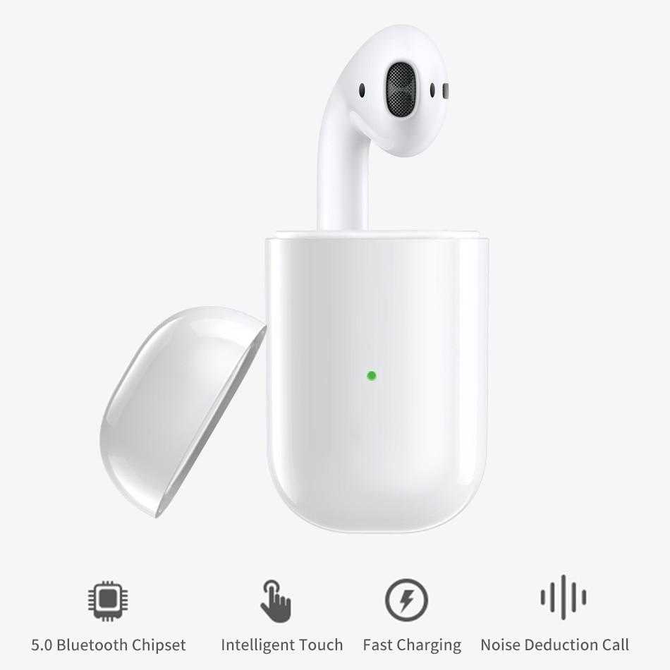d6a9a9e6bdb WiWU Wireless Earphone for iOS/Android i 10 TWS Waterproof Stereo Earbud  with Charging Case Bluetooth Earphone Single Earphones