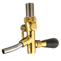Stainless Steel Beer G5/8 Shank Gold Plating for Kegerator Tap Faucet Adjustable Pub Bar Draft Beer Faucet Home brew Tool
