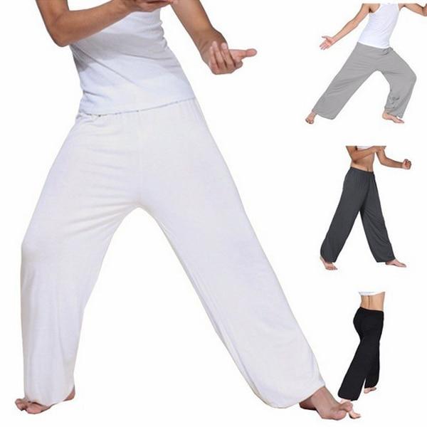 Men Super Soft Yoga Pilates Pants Loose Casual Harem Loose Wide Leg Lounge Pants Male Trousers XRQ88 5