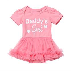 Детский розовый комбинезон с коротким рукавом и оборками для новорожденных девочек