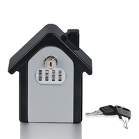 Large Capacity Wall Mounted Key Storage Box Password Lock Case For Storing Key Credit Card Portable Storage Boxes For Decoration