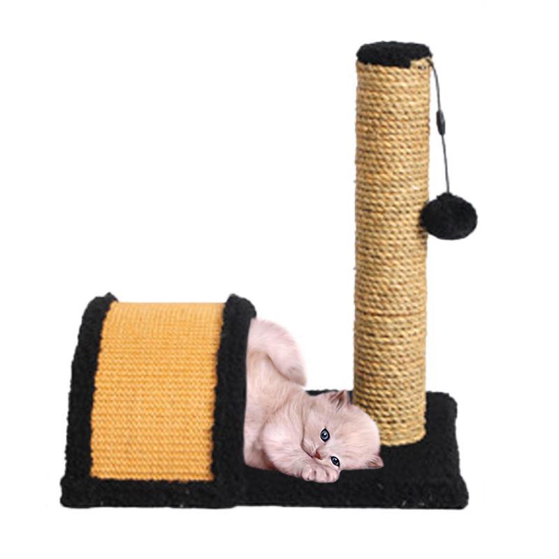 Chat jouets Sisal gratter escalade cadre Post jouet gatos gratter arbre conseil avec balle piégée entraînement jouets pour chat accessoires