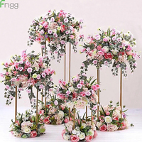4/10Pcs Indoor Garden Metal Plat Stand Wedding Decoration Flowers Vase Column Stand Wedding Centerpieces Rack Event Party Deco