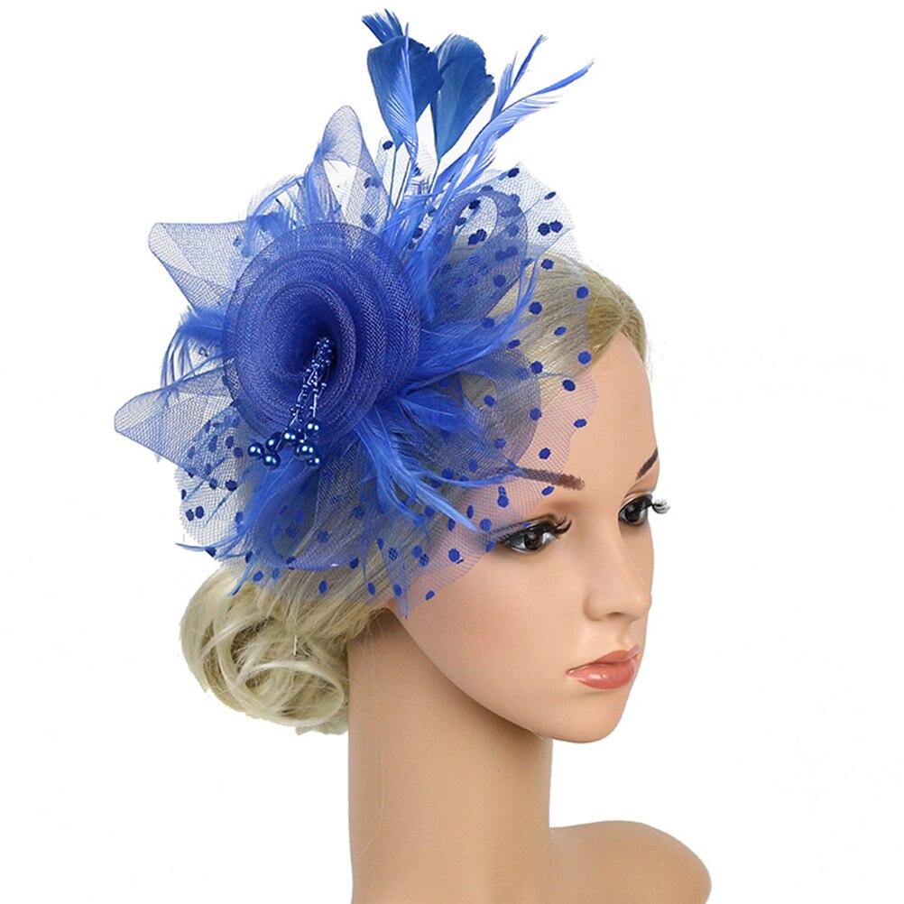1 Pc Fascinator Hut Fedoras Für Frauen Braut Tee Party Hochzeit Cocktail Mesh Federn Blume Haar Clip Stirnband
